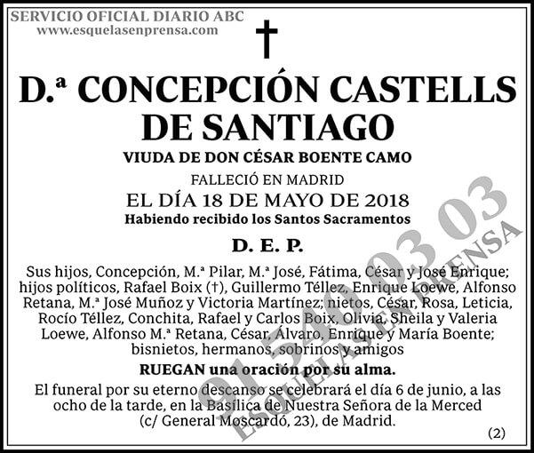 Concepción Castells de Santiago